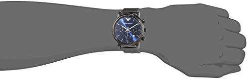 Emporio Armani Men's Chronograph Quartz Watch with Stainless Steel Mesh Strap AR1979 5