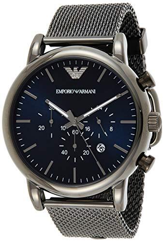 Emporio Armani Men's Chronograph Quartz Watch with Stainless Steel Mesh Strap AR1979 1