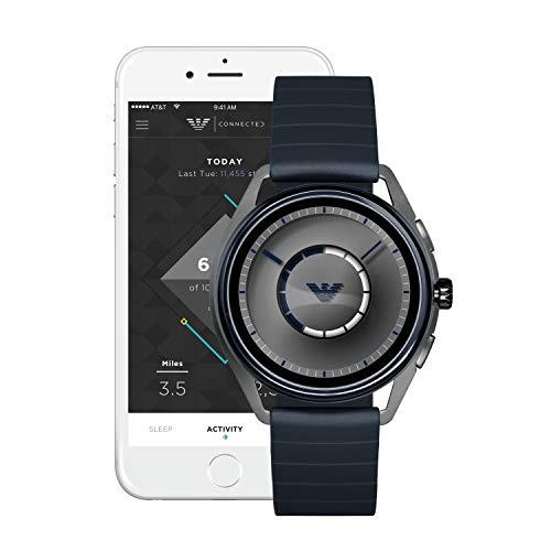 Emporio Armani Mens Smartwatch with Rubber Strap ART5008 4