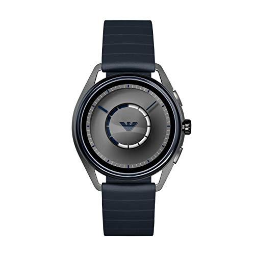 Emporio Armani Mens Smartwatch with Rubber Strap ART5008 1