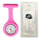Lizzy Fashion Silicone Nurse Watch Durable Brooch Fob Medical Watch (Polka Dot Black) 14