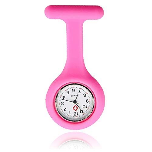 Lizzy Fashion Silicone Nurse Watch Durable Brooch Fob Medical Watch (Polka Dot Black) 1