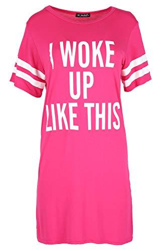 Fashion Star Women Ladies Oversized PJ Shirt Top Baggy Tunic Night Dress 1