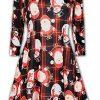 Fashion Star Womens Xmas Snowman Santa Reindeer Swing Dress 3