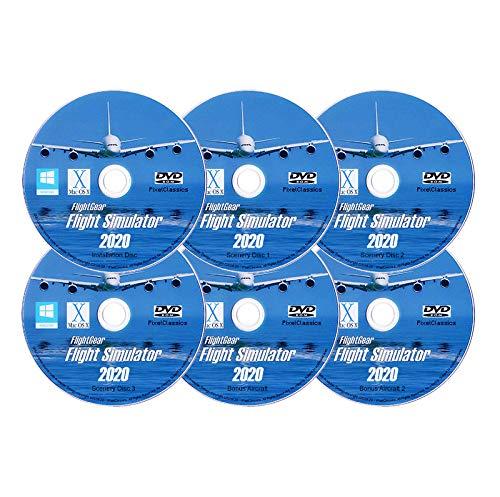 Flight Simulator 2020 X FlightGear Plane & Helicopter Sim | Premium DELUXE Edition Flight Gear Incl 600+ Aircraft | DVD… 1