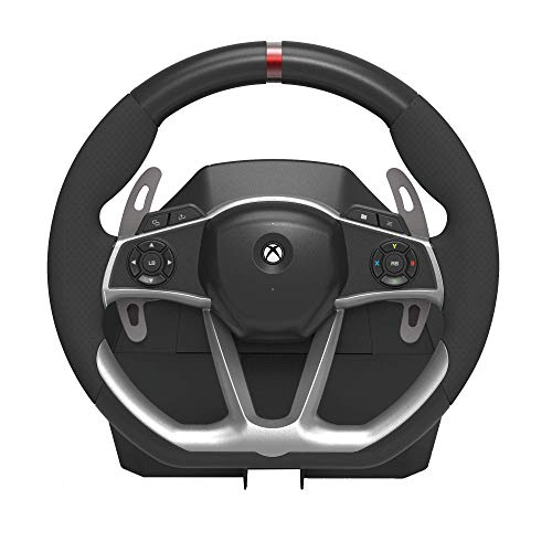 HORI Wired Force Feedback Racing Wheel DLX - Steering Wheel with vibration rumble and pedals - Xbox Series X - Xbox One 3