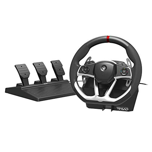 HORI Wired Force Feedback Racing Wheel DLX - Steering Wheel with vibration rumble and pedals - Xbox Series X - Xbox One 1