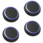 Fosmon A1669 Silicone Thumb Stick Grip Caps (2 Pair) for PS4, PS3, Wii U, and Xbox 360 - Black/Blue 15