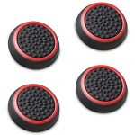 Fosmon A1669 Silicone Thumb Stick Grip Caps (2 Pair) for PS4, PS3, Wii U, and Xbox 360 - Black/Blue 21