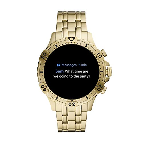 Fossil Gen 5 Garrett Stainless Steel Touchscreen Smartwatch with Speaker, Heart Rate, GPS, NFC, and Smartphone… 6