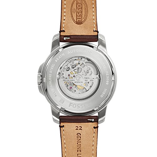 Fossil Men's Analog Automatic Watch with Leather Strap ME3099 4