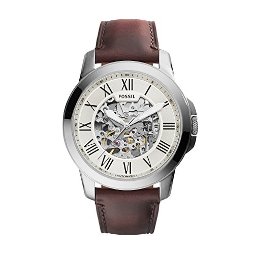 Fossil Men's Analog Automatic Watch with Leather Strap ME3099 2