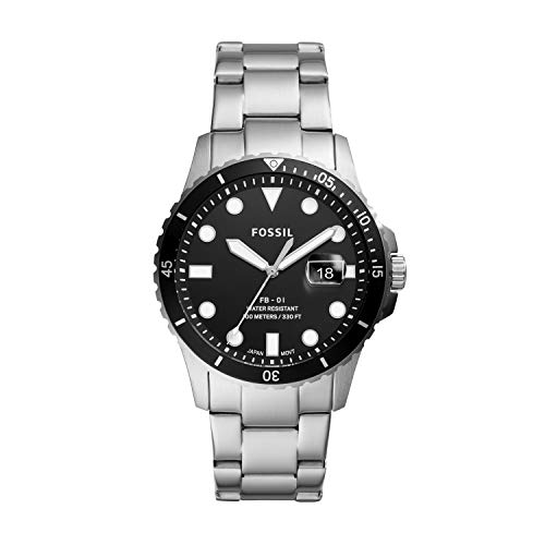 Fossil Men's Analog Quartz Watch with Stainless Steel Strap FS5652 1