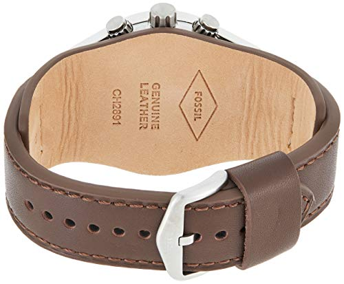 Fossil Men's Chronograph Quartz Watch with Leather Strap 3