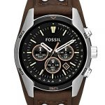 Fossil Men's Chronograph Quartz Watch with Leather Strap 23