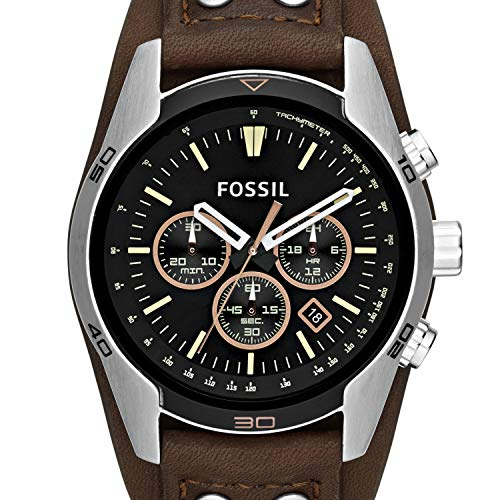 Fossil Men's Chronograph Quartz Watch with Leather Strap 4