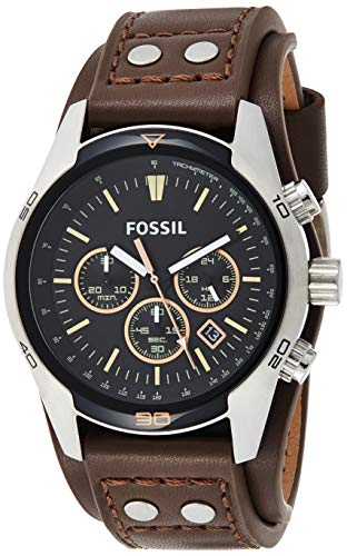 Fossil Men's Chronograph Quartz Watch with Leather Strap 2