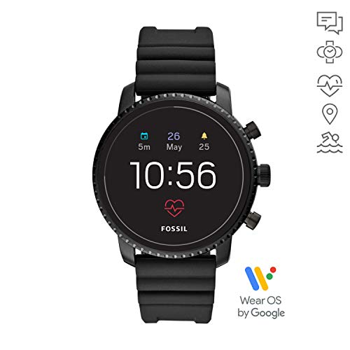 Fossil Men's Gen 4 Smartwatch Explorist HR Black Silicone with Activity Tracker, GPS< Heart Rate Tracking and… 3