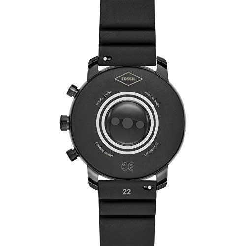 Fossil Men's Gen 4 Smartwatch Explorist HR Black Silicone with Activity Tracker, GPS< Heart Rate Tracking and… 6