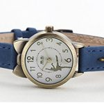 Fq-234 Brown Leather Strap Bowknot Kitty Design Students Girls Woman Quartz Wrist Watches 19