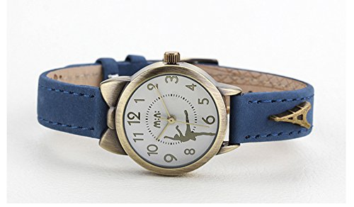 Fq-234 Brown Leather Strap Bowknot Kitty Design Students Girls Woman Quartz Wrist Watches 4