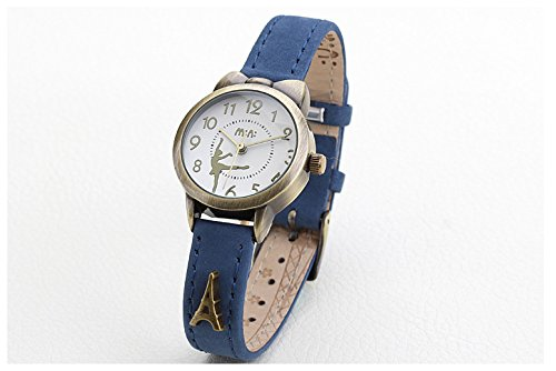Fq-234 Brown Leather Strap Bowknot Kitty Design Students Girls Woman Quartz Wrist Watches 5