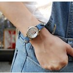Fq-234 Brown Leather Strap Bowknot Kitty Design Students Girls Woman Quartz Wrist Watches 21