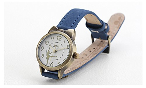 Fq-234 Brown Leather Strap Bowknot Kitty Design Students Girls Woman Quartz Wrist Watches 7