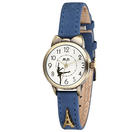 Fq-234 Brown Leather Strap Bowknot Kitty Design Students Girls Woman Quartz Wrist Watches 1