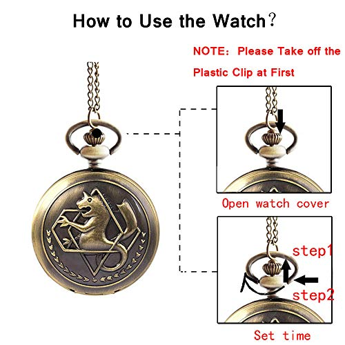 Fullmetal Alchemist Pocket Watch with Chain Box for Cosplay Accessories Anime Merch 4