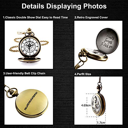 Fullmetal Alchemist Pocket Watch with Chain Box for Cosplay Accessories Anime Merch 5