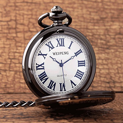 GORBEN Mens Dad Pocket Watches Vintage Quartz Fob Watches with Chain Fob Pendent for Men Daddy Birthday Father's Day… 3