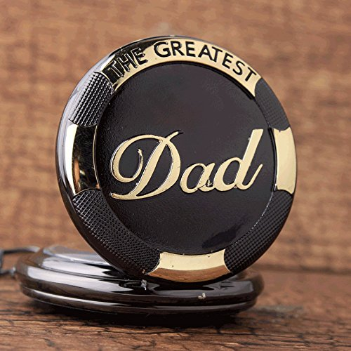 GORBEN Mens Dad Pocket Watches Vintage Quartz Fob Watches with Chain Fob Pendent for Men Daddy Birthday Father's Day… 4