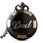GORBEN Mens Dad Pocket Watches Vintage Quartz Fob Watches with Chain Fob Pendent for Men Daddy Birthday Father's Day… 15