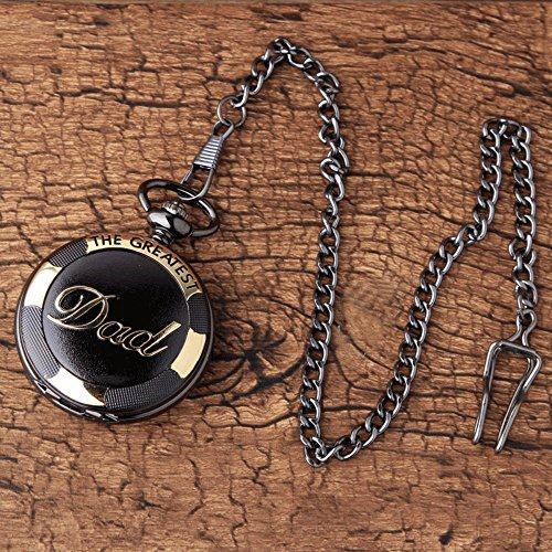 GORBEN Mens Dad Pocket Watches Vintage Quartz Fob Watches with Chain Fob Pendent for Men Daddy Birthday Father's Day… 5