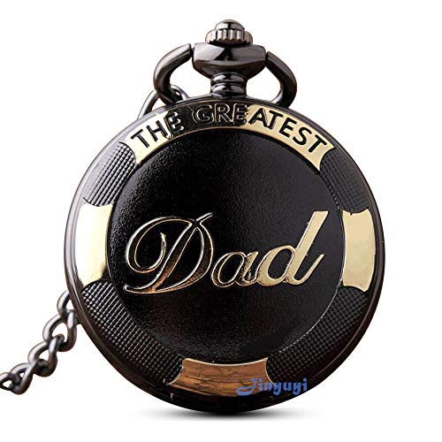 GORBEN Mens Dad Pocket Watches Vintage Quartz Fob Watches with Chain Fob Pendent for Men Daddy Birthday Father's Day… 1