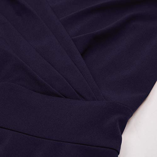 GRACE KARIN Women 50s Vintage Sleeveless V-Neck A-Line Swing Party Cocktail Dress 4