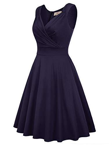 GRACE KARIN Women 50s Vintage Sleeveless V-Neck A-Line Swing Party Cocktail Dress 6
