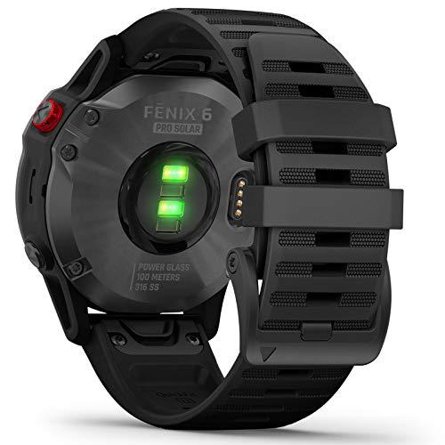 Garmin Fenix 6 Pro Solar Edition Black Rubber Strap Watch 010-02410-15 3