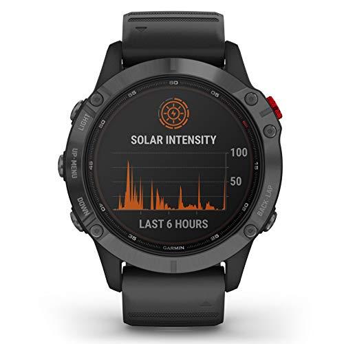 Garmin Fenix 6 Pro Solar Edition Black Rubber Strap Watch 010-02410-15 4