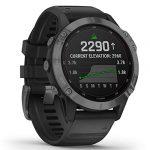 Garmin Fenix 6 Pro Solar Edition Black Rubber Strap Watch 010-02410-15 24