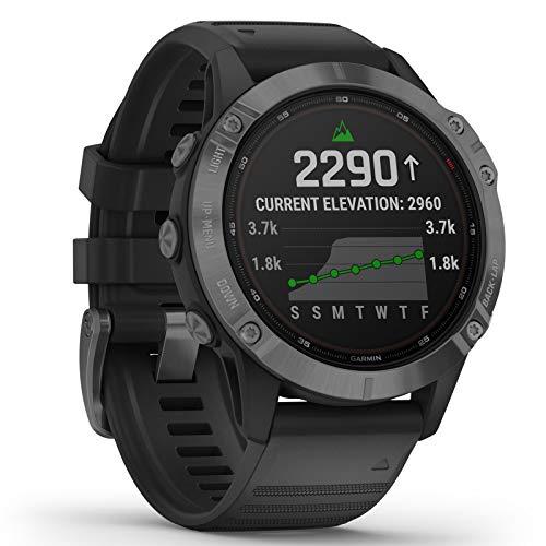 Garmin Fenix 6 Pro Solar Edition Black Rubber Strap Watch 010-02410-15 5