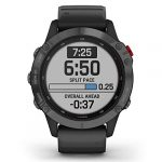 Garmin Fenix 6 Pro Solar Edition Black Rubber Strap Watch 010-02410-15 26