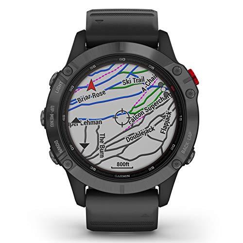Garmin Fenix 6 Pro Solar Edition Black Rubber Strap Watch 010-02410-15 9