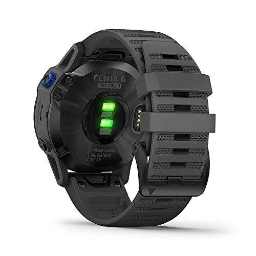 Garmin Fenix 6 Pro Solar Edition Slate Grey Rubber Strap Watch 010-02410-11 4