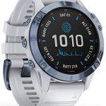 Garmin Fenix 6 Pro Solar Edition Whitestone Rubber Strap Watch 010-02410-19 20