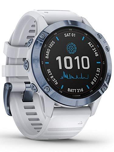 Garmin Fenix 6 Pro Solar Edition Whitestone Rubber Strap Watch 010-02410-19 3