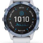 Garmin Fenix 6 Pro Solar Edition Whitestone Rubber Strap Watch 010-02410-19 19