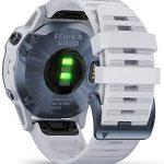 Garmin Fenix 6 Pro Solar Edition Whitestone Rubber Strap Watch 010-02410-19 22