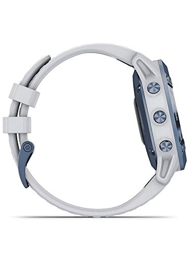 Garmin Fenix 6 Pro Solar Edition Whitestone Rubber Strap Watch 010-02410-19 6